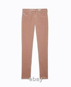 AG Adrianno Goldschmied Women Jeans Super Skinny Velvet Leggings Rose Gold 31