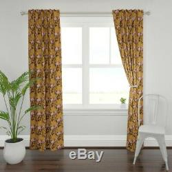 Botanical Rose Watercolor Roses Leaf Wild 50 Wide Curtain Panel by Roostery