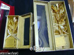 CHRISTMAS GIFT 24K Gold Dipped Real Rose Various Sizes in PRETTY HANDCRAFTED BOX