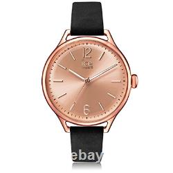 Ice-Watch ICE time Black Rose-Gold Women's wristwatch with leather strap
