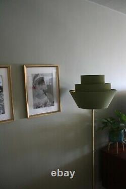 Lampshade, 3 Tiered Olive Green Velvet with Brushed Gold or contrast Lining