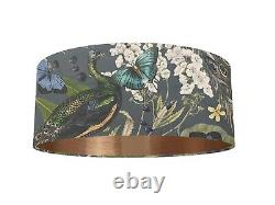 Luxurious Peacock Velvet Fabric Lampshade 6 Brushed Linings Bronze Champagne