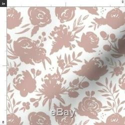 Mauve Mauve And White Dusty Rose Rose Gold 50 Wide Curtain Panel by Roostery