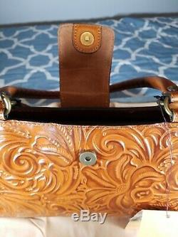 New Patricia Nash Women's Rienzo Leather Handbag, Burnished Tool Collection