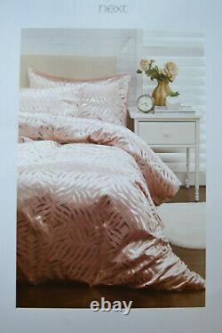 Next King Size Duvet Cover Pink Rose Gold Geo Velvet Bedset 142 New