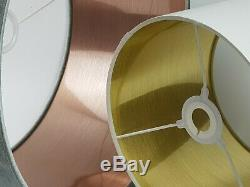 Olive Green Velvet Fabric Lampshade 6 Brushed Linings Bronze Champagne Rose