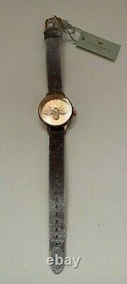 Olivia Burton 3D Bee Rose Gold Watch with Grey Lilac Velvet Watchstrap Sunray