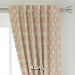 Pink Rose Gold Sparkles Shiny Foil Retro 50 Wide Curtain Panel by Roostery