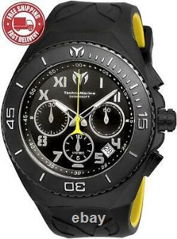 Technomarine Men's'Manta' Quartz Stainless Steel and Silicone Casual Watch
