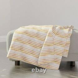 Throw Blanket Mauve Pink Stripe Muted Blush Dusty Rose Copper Rose 48 x 70in