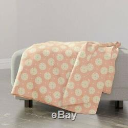 Throw Blanket Pink Rose Gold Sparkles Shiny Foil Retro 48 x 70in