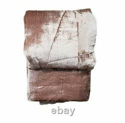 Urban Outfitters UO Home Blush Rose Gold Pink Velvet Queen Comforter