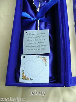 VALENTINE'S GIFT 11Inch Real Rose Dipped in Pure Silver in Handcrafted Box & COA