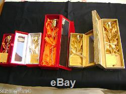 VALENTINE'S ROMANTIC GIFT Natural Rose Dipped in 24K Gold HANDCRAFTED BOX NEW