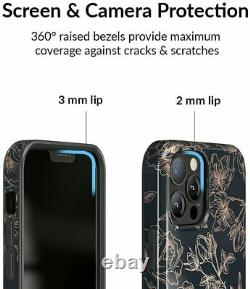 Velvet Caviar Case for iPhone 12 Pro Max 8ft Drop Tested Floral Rose Gold