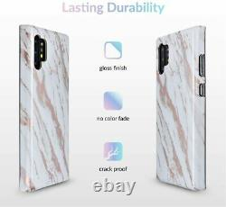 Velvet Caviar for Samsung Galaxy Note 10+ Plus Marble White Rose Gold