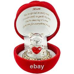 Velvet Touch Red Rose On Gold Plated Mum Birthday\Motherday\Anniversary Ornament